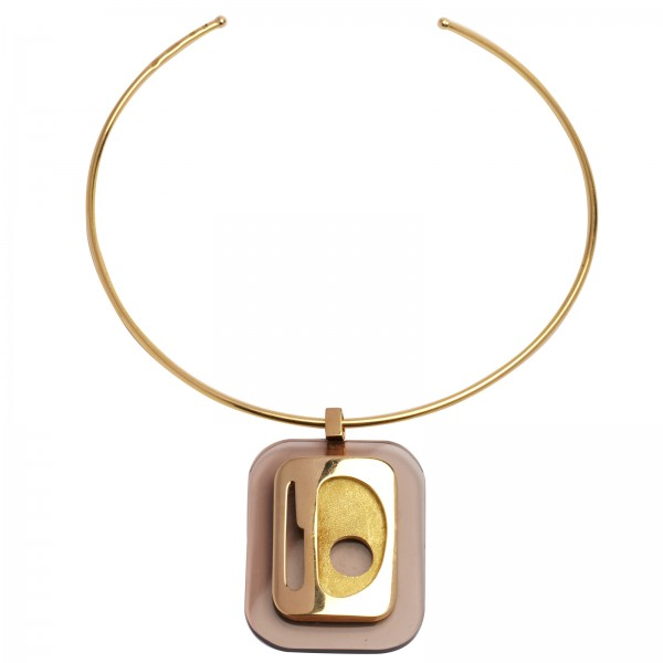 '70s gold & bakelite necklace via 1stdibs.com