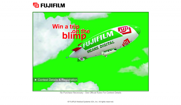 Screenshot of fujimed.com/blimp