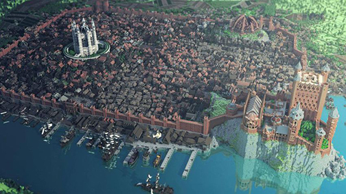 One of the largest Minecraft projects to date brings us this replica of Game of Thrones' King's Landing.