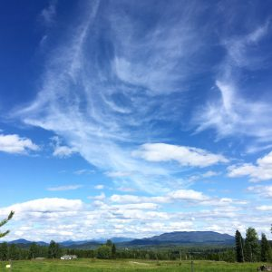 Looking out toward the mountains surrounding Horsefly. -- via Grace Forrest