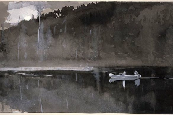 winslow_homer_-_trout_fishing_lake_st-_john_quebec_1895
